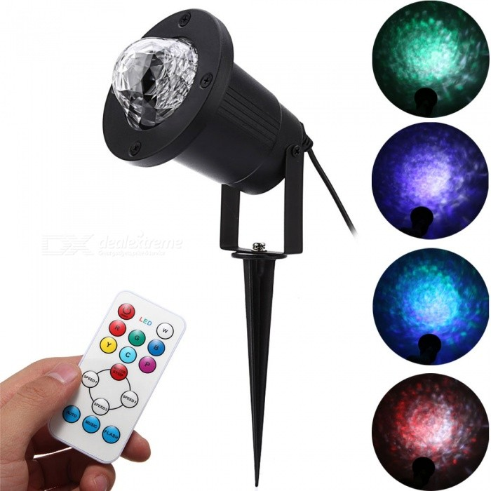 YouOKLight 7 Color LED Water Wave Ripple Effect Stage Light (US Plug)