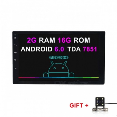Funrover 2GB RAM HD Quad-Core Android 6.0 Car Radio Player met Camera