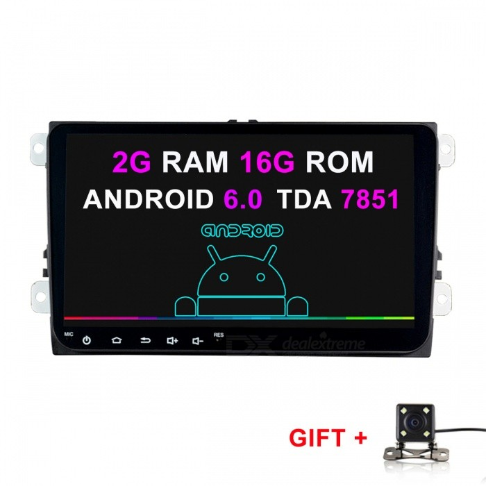 Funrover 9 2G RAM 16G ROM Android 6.0 Stereo Car Player for VW SkodaCar DVD Players<br>Form  Color2G RAM 16G ROM + Rearview CameraModelFV0019Quantity1 DX.PCM.Model.AttributeModel.UnitMaterialABS+MetalStyle2 Din In-DashFunctionOthers,2G RAM 16G ROM Rearview CameraCompatible MakeOthers,VW Skoda SeatCompatible Car ModelVolkswagen Passat B6 / B7 / Passat CC / Jetta / Polo / Golf / Caddy /Tiguan / Touran / Skoda Octavia / Superb / Yeti / Fabia / Seat Leon / Seat Altea / Toledo / SciroccoCompatible YearOthers,2014 2015 2016 2017Screen SizeOthers,9 inchScreen Resolution1024*600Touch Screen TypeYesDetachable PanelNoBrightness ControlYesMenu LanguageOthers,English , Greek , Danish , Norwegian , Dutch , Arabic , Turkish , Japanese , Bahasa Indonesia , Korean , Thai , French , Maltese , Hungarian , Latin , Persian , Malay , Slovak , Czech , Greek , Romanian , Swedish , German , Finnish , Chinese Simplified , Chinese Traditional , Bulgarian , Norwegian , Hebrew , Italian , Spanish , Portuguese , Russian , Vietnamese , PolishCPU ProcessorIntel SoFIA 3GR Quad CoresSupport MapIGO,Route66,TOMTOM,Garmin,Sygic,CarelandMain FrequencyOthers,1.6 DX.PCM.Model.AttributeModel.UnitStore CapacityOthers,16 DX.PCM.Model.AttributeModel.UnitOperating SystemOthers,Android 6.0Audio FormatsMP3,WMA,APE,FLAC,OGG,AC3,DTS,AACVideo FormatsOthers,RM , PMP , AVC , FLV , VOB , MPG , DAT , MPEG , H.264 , MPEG1 , MPEG2 , RMVB , MPEG4 , WMV , TP , AVI , DIVX , MKV , MOV , HDMOV , MP4 , M4VPicture FormatsJPEG,BMP,PNG,GIF,TIFF,jps(3D),mpo(3D)Support RDSfor European countriesRadio TunerAM,FMRadio Response BandwidthAM: 520KHz-1700KHz,FM: 87MHz-110MHzStation Preset Qty.40RDSYesBuilt-in MicrophoneYesBluetooth FunctionReceived Call,Dialled Call,Missed CallBluetooth VersionBluetooth V3.0Amplifier Peak Power4*45 DX.PCM.Model.AttributeModel.UnitAudio ModeNatural,Rock,Jazz,Classical,Live,Dancing,PopularInterface PortUSB ISOAudio Input2 channelsAudio  Output1 ChannelRearview Camera InputYesExternal Memory Max. Support64 