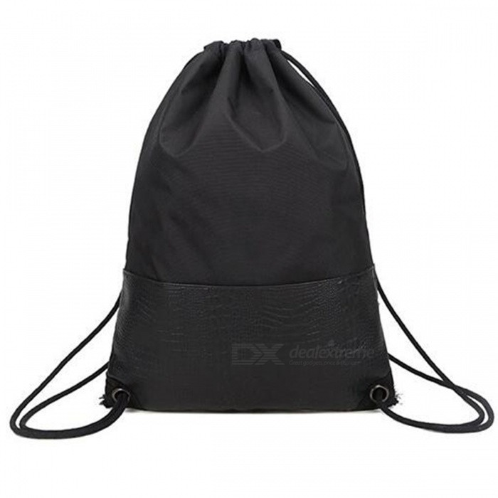 Unisex Sports Rope Backpack - BlackBackpacks<br>Form  ColorBlackQuantity1 pieceMaterialNylon + PUShade Of ColorBlackGenderUnisexStyleCasualSuitable forAdultsWaterproofYesTypeBackpacks,Tote BagsOpeningOthers,Zipper+StringBag ShapeOthers,Vertical squareInner structureHidden inner bag, nylon spliceStrap Dimensions75 cmInterior Dimensions53.5 cmPacking List1 x Backpack<br>