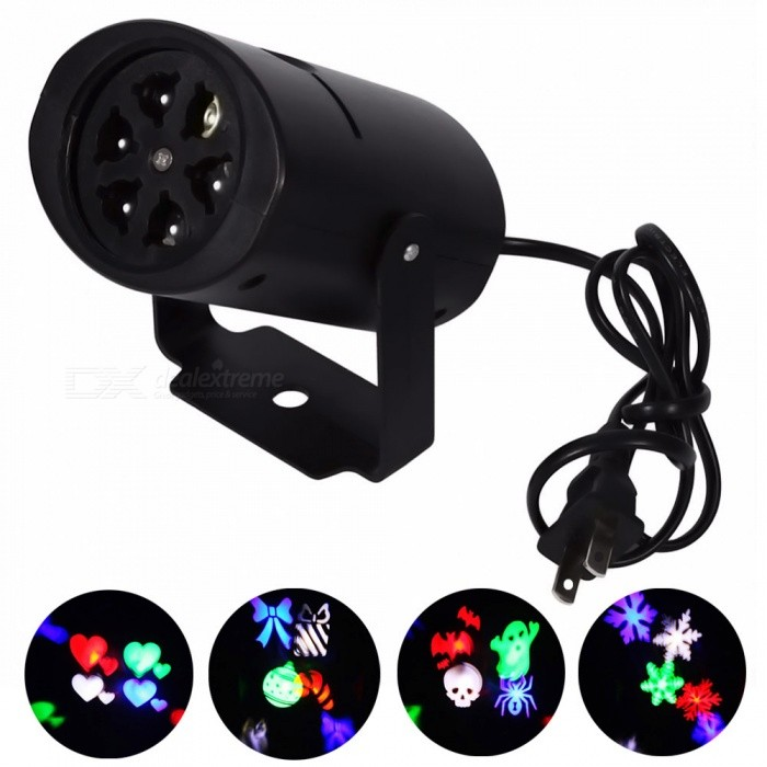 YouOKLight 4W 4-Pattern RGBW LED Stage Effect Light Projector -US PlugStage Lights<br>Form  ColorBlack (US Plug)ModelYK2283-USMaterialPlasticQuantity1 DX.PCM.Model.AttributeModel.UnitShade Of ColorMulti-colorPattern TypeSnowflake/ Love Heart/ Halloween/ CandyTotal Power4 DX.PCM.Model.AttributeModel.UnitPower AdapterUS PlugOther FeaturesCable length: 0.9M;<br>Voltage: AC 85- 265V;<br>No Waterproof;Packing List1 x LED Stage Light (US Plug, Cable length: 0.9M)4 x Pattern Cards (all patterns)<br>