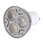 GU10 3W 3-LED 270lm 6500K Cool White Light Lamp Bulb (85~265V)