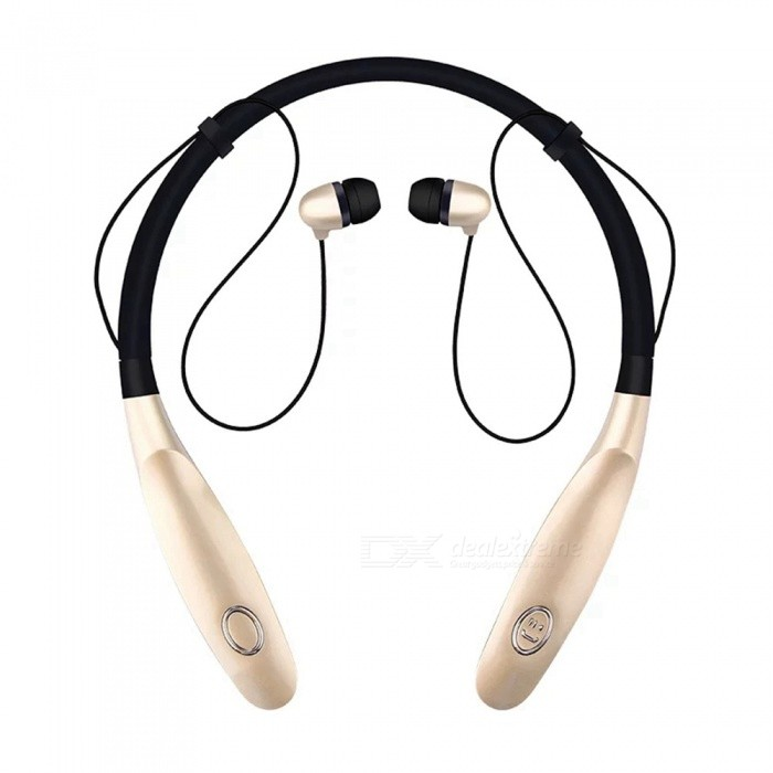 FENG New HBS900s Sports Bluetooth Neck Headset Headphones - GoldenHeadphones<br>Form  ColorGolden Yellow + BlackBrandOthers,N/AMaterialABSQuantity1 setConnectionBluetoothBluetooth VersionBluetooth V4.0Operating Range10mHeadphone StyleBilateralWaterproof LevelIPX3Applicable ProductsUniversalHeadphone FeaturesEnglish Voice Prompts,Phone Control,Long Time Standby,Noise-CancelingSupport Memory CardNoSupport Apt-XYesBuilt-in Battery Capacity 350 mAhStandby Time16 hourTalk Time3-6 hourMusic Play Time5-8 hourPacking List1 x HBS900s Wireless Bluetooth Headset1 x Charging Cable1 x User Manual<br>