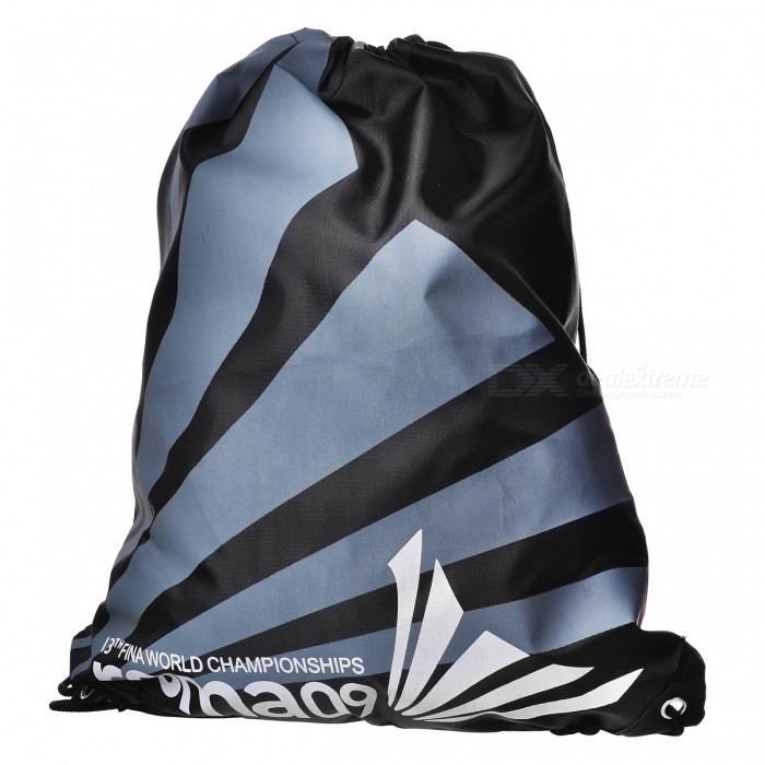 Lightweight Foldable Polyester Fiber Drawstring Backpack Bag - GreyForm  ColorBlack + Grey + Multi-ColoredBrandOthers,Others,N/AModel02Quantity1 DX.PCM.Model.AttributeModel.UnitMaterialPolyester fiberTypeDaypackGear Capacity3 DX.PCM.Model.AttributeModel.UnitCapacity Range0L~20LRaincover includedNoPacking List1 x Bag<br>