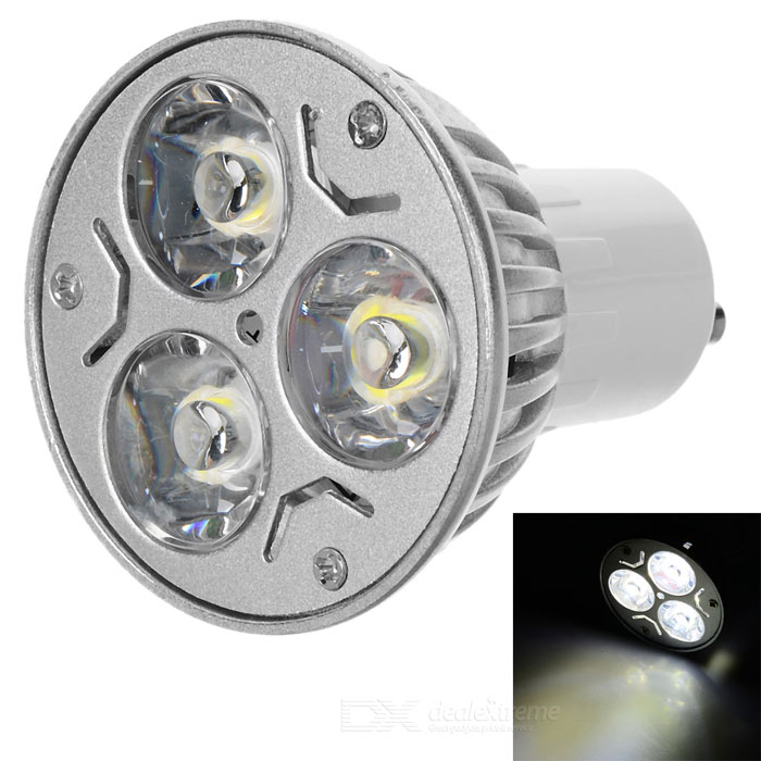 GU10 3W 3-LED 270-Lumen 6500K White Light Bulb (85~265V AC) gu10 9w 6500k 810 lumen 18 led white light bulb ac 85 265v