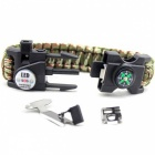 Outdoor Emergency Survival Paracord Armband mit SOS LED-Tarnanzug