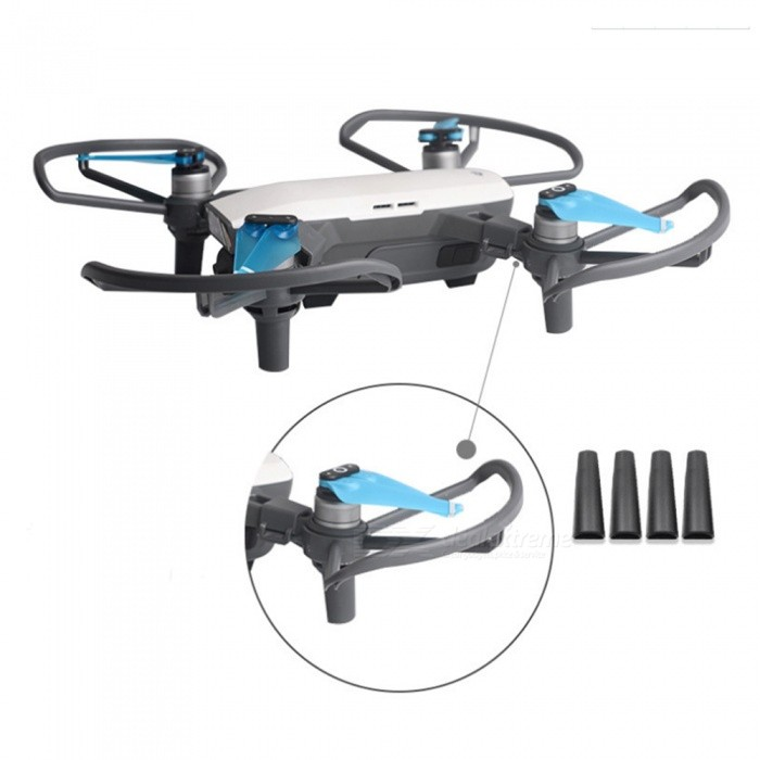 Propeller Protector and Extended Landing Gear for DJI Spark RC DroneOther Toys<br>Form  ColorBlack GreyModelDJI SparkMaterialPlasticQuantity1 DX.PCM.Model.AttributeModel.UnitSuitable Age Grown upsPacking List4 x Propeller Protectors4 x Extended Landing Gears1 x Adhesive Tape<br>