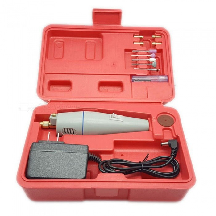 500B Mini Electric Drill Grinder Grinding Set - RedCutting Tools<br>Form  ColorRedModel500BQuantity1 setMaterialABSPacking List1 x Electric drill1 x Steel drill bit (Diameter: 0.5, 1.0, 1.5, 2.5, 3.0)5 x Chucks (Diameter: 0.5, 1.0, 1.5, 2.5, 3.0)4 x Grinding wheels with handle1 x Disconnection grinding wheel plate1 x Transformer (Output DC 12V 500mA)1 x Packing box<br>