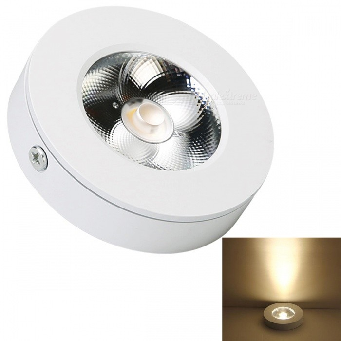 JRLED 5W Warm White Wall Lamp, Corridor Lamp - White (AC220V)Ceiling Light<br>Form  ColorWhiteColor BINWarm WhiteModelN/AQuantity1 DX.PCM.Model.AttributeModel.UnitMaterialAluminum + acrylicPower5WRated VoltageAC 220 DX.PCM.Model.AttributeModel.UnitChip BrandEpistarChip TypeN/AEmitter TypeCOBTotal Emitters1Theoretical Lumens500 DX.PCM.Model.AttributeModel.UnitActual Lumens450 DX.PCM.Model.AttributeModel.UnitColor Temperature3000KDimmableNoBeam Angle45 DX.PCM.Model.AttributeModel.UnitWavelengthN/AExternal Diameter7.5 DX.PCM.Model.AttributeModel.UnitHole diameter7.5 DX.PCM.Model.AttributeModel.UnitHeight1.8 DX.PCM.Model.AttributeModel.UnitCertificationCE ROHSOther FeaturesThis product, ultra-thin size, with the design, no holes, the fifth generation of high voltage COB light source, high brightness, high color rendering index, the quality is stable, low luminous decay, wall lamp, ceiling lamp, ceiling lamp, lamp, lamp lighting showcase good choice.Packing List1 x 5W LED Lamp<br>