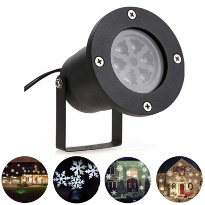 YouOKLight LED Snowflake Stage White Light Projector Lamp - EU Plug