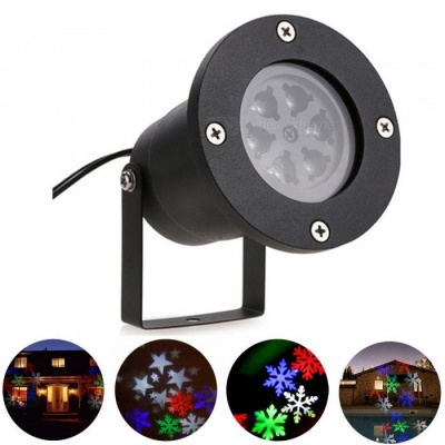 YouOKLight LED RGBW Snowflake Stage Light, Projector Lamp - US Plug