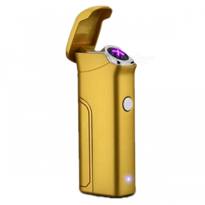SPO Battery Removable Rechargeable Dual Arc Cigarette Lighter - GoldenOther Lighters<br>Form  ColorGoldenMaterialSteelQuantity1 DX.PCM.Model.AttributeModel.UnitShade Of ColorGoldTypeUSBWindproofYesPower Supply14500Charging Time1 DX.PCM.Model.AttributeModel.UnitPacking List1 x Rechargeable Lighter<br>