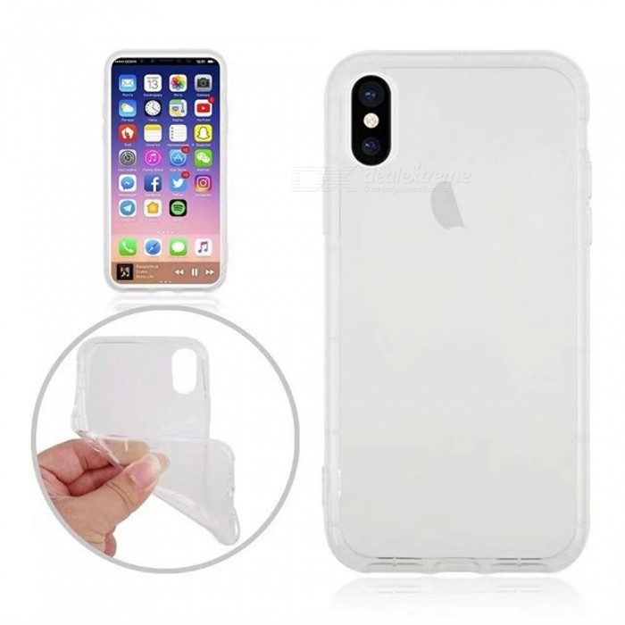 Mini Smile Shockproof Transparent Soft TPU Back Case for IPHONE XTPU Cases<br>Form  ColorTransparentModelI8-TQuantity1 DX.PCM.Model.AttributeModel.UnitMaterialTPUCompatible ModelsOthers,IPHONE XDesignTransparentStyleBack CasesPacking List1 x Back case<br>