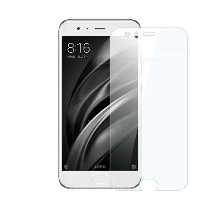 Dayspirit Tempered Glass Screen Protector for Xiaomi Mi 6Screen Protectors<br>Form  ColorTransparentScreen TypeGlossyModelN/AMaterialTempered glassQuantity1 pieceCompatible ModelsXiaomi Mi 6FeaturesTempered glassPacking List1 x Tempered glass screen protector1 x Dust cleaning film 1 x Alcohol prep pad<br>