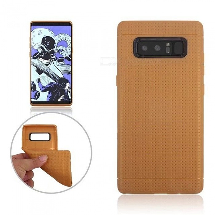 TPU Protective Back Case Cover for Samsung GALAXY Note 8 - BrownTPU Cases<br>Form  ColorBrownModelN/AQuantity1 DX.PCM.Model.AttributeModel.UnitMaterialTPUShade Of ColorBrownCompatible ModelsSamsung GALAXY Note 8DesignSolid Color,MatteStyleBack CasesPacking List1 x Case<br>