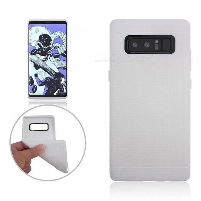 Protective TPU Back Case Cover for Samsung GALAXY Note 8 - WhiteTPU Cases<br>Form  ColorWhiteModelN/AQuantity1 DX.PCM.Model.AttributeModel.UnitMaterialTPUShade Of ColorWhiteCompatible ModelsSamsung GALAXY Note 8DesignSolid Color,MatteStyleBack CasesPacking List1 x Case<br>
