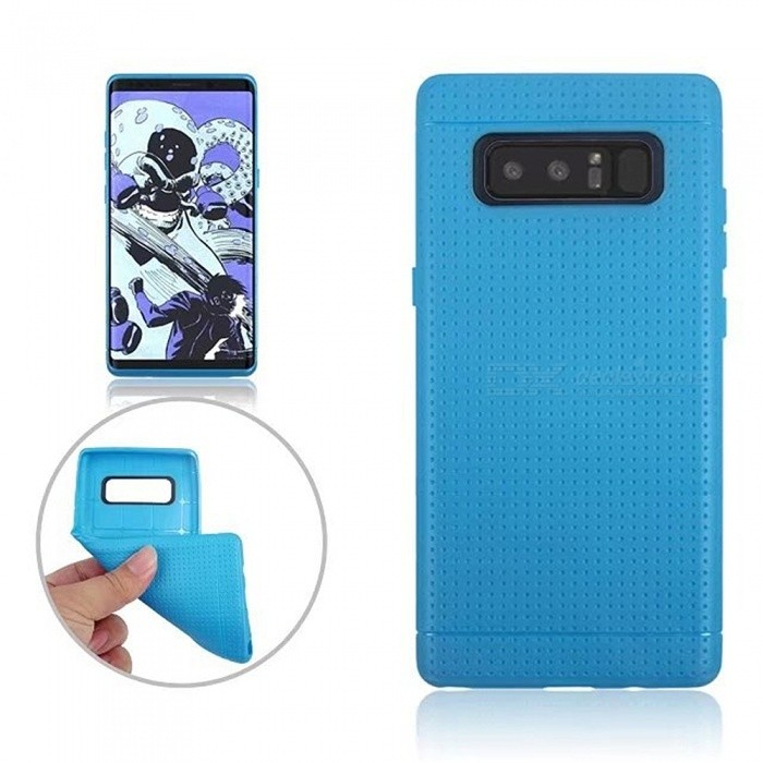 TPU Protective Back Case Cover for Samsung GALAXY Note 8 - BlueTPU Cases<br>Form  ColorLight BlueModelN/AQuantity1 pieceMaterialTPUShade Of ColorBlueCompatible ModelsSamsung GALAXY Note 8DesignSolid Color,MatteStyleBack CasesPacking List1 x Case<br>