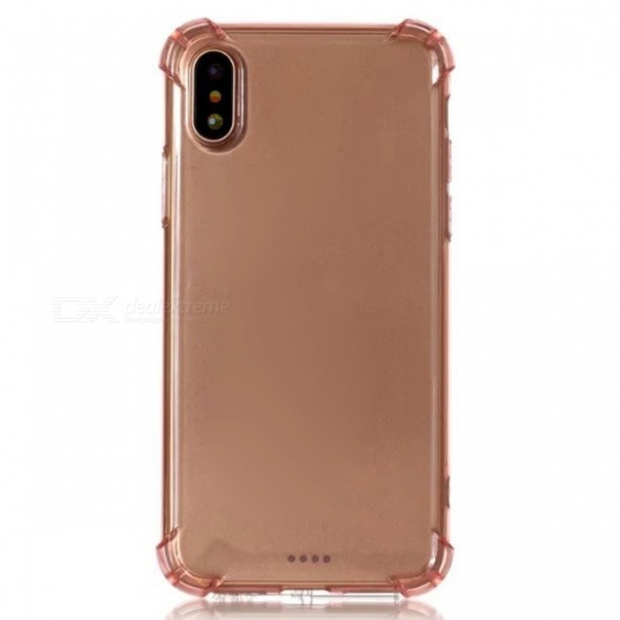 Protective Sock-Resistant TPU Back Case for IPHONE X - PinkTPU Cases<br>Form  ColorTranslucent PinkModelN/AQuantity1 DX.PCM.Model.AttributeModel.UnitMaterialTPUCompatible ModelsOthers,IPHONE XDesignSolid ColorStyleBack CasesPacking List1 x Case<br>
