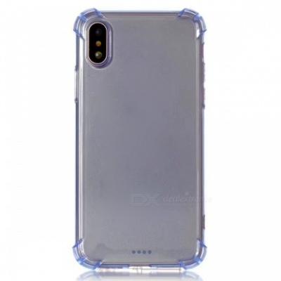 Stylish Protective TPU Back Case for IPHONE X - Blue