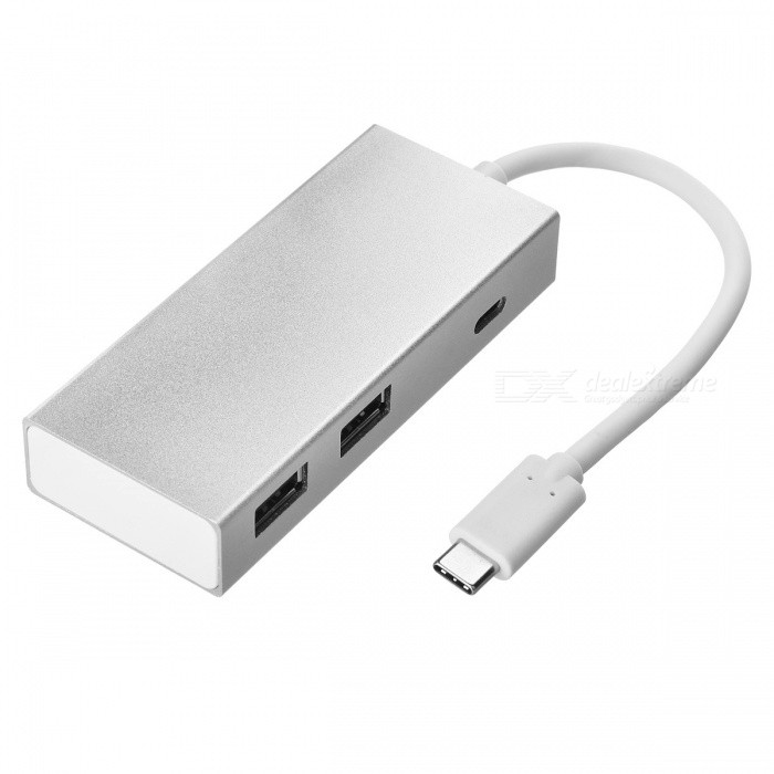 BSTUO USB3.1 Type-C to 4 Port USB 2.0 HUB+Type-C Charging Port -SilverLaptop/Tablet Cable&amp;Adapters<br>Form  ColorSilverModelN/AQuantity1 DX.PCM.Model.AttributeModel.UnitShade Of ColorSilverMaterialAluminium alloyInterfaceUSB 2.0,Others,USB3.1 type-cTypeLaptopsCompatible BrandAPPLE,Dell,HP,Toshiba,Acer,Lenovo,Samsung,MSI,Sony,IBM,Asus,ThinkpadTransmission Rate10 DX.PCM.Model.AttributeModel.UnitPacking List1 x USB 3.1 HUB<br>