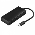 BSTUO USB3.1 Type-C to 4 Port USB 2.0 HUB+Type-C Charging Port - Black