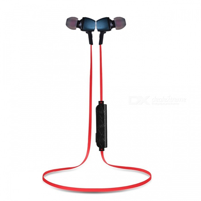 FENG Sports Wireless Bluetooth In-Ear Stereo Earphones for Cell PhonesHeadphones<br>Form  ColorDeep Blue + Red + MulticoloredBrandOthers,N/AMaterialABSQuantity1 setConnectionBluetoothBluetooth VersionBluetooth V4.1Operating Range10mHeadphone StyleBilateralWaterproof LevelIPX3Applicable ProductsUniversalHeadphone FeaturesPhone Control,Long Time Standby,Magnetic AdsorptionSupport Memory CardNoSupport Apt-XYesPacking List1 x Bluetooth Earphones1 x Charging Cable1 x Manual<br>