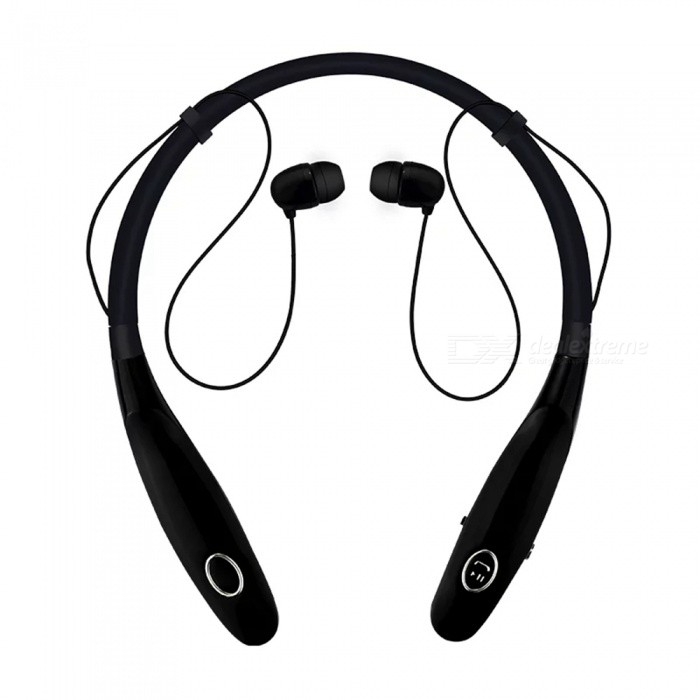 HBS900s Sports Bluetooth Neck Headset Headphones - BlackHeadphones<br>Form  ColorBlackBrandOthers,N/AMaterialABSQuantity1 DX.PCM.Model.AttributeModel.UnitConnectionBluetoothBluetooth VersionBluetooth V4.0Operating Range10mHeadphone StyleBilateralWaterproof LevelIPX3Applicable ProductsUniversalHeadphone FeaturesEnglish Voice Prompts,Phone Control,Long Time Standby,Noise-CancelingSupport Memory CardNoSupport Apt-XYesBuilt-in Battery Capacity 350 DX.PCM.Model.AttributeModel.UnitStandby Time16 DX.PCM.Model.AttributeModel.UnitTalk Time3-6 DX.PCM.Model.AttributeModel.UnitMusic Play Time5-8 DX.PCM.Model.AttributeModel.UnitPacking List1 x HBS900s Wireless Bluetooth Headset1 x Charging Cable1 x User Manual<br>