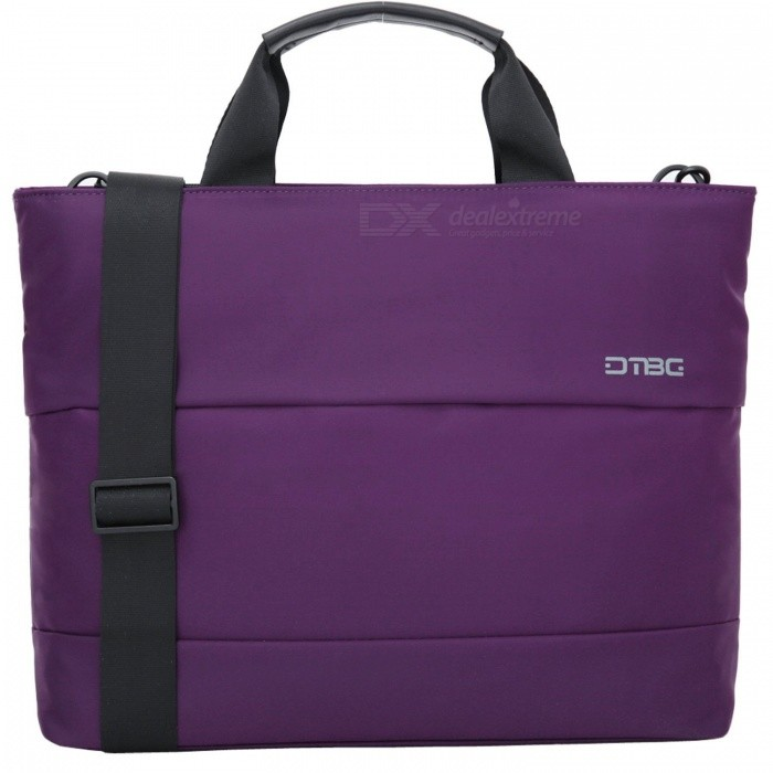 DTBG D8197W 15.6 Water Resistant Nylon Laptop Shoulder Bag - PurpleBags and Pouches<br>Form  ColorPurple (15.6 Inch)ModelD8197WQuantity1 pieceShade Of ColorPurpleMaterialNylonCompatible Size15.6 inchTypeMessengers,Tote BagsPacking List1 x Hand Bag<br>
