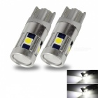 JRLED T10 3W Cold White Light 5-3030 SMD LED Indicator Lamps (2 PCS)