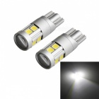 JRLED T10 5W Cold White Light 9-3030 SMD LED Indicator Lamps (2 PCS)