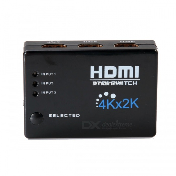 STUDIO 3-in 1-ut 4K * 2K HDMI-switch Splitter Switcher Adapter - Svart