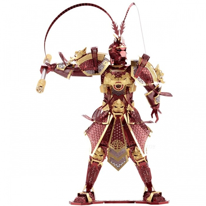 DIY 3D Monkey King Assembly Model Jigsaw Puzzle - Multi-ColorBlocks &amp; Jigsaw Toys<br>Form  ColorRed Brown + Gold + Multi-ColoredMaterialMetalQuantity1 DX.PCM.Model.AttributeModel.UnitNumber4Size13CM*12.5CM*18.2Suitable Age 5-7 years,8-11 years,12-15 years,Grown upsPacking List1 x DIY 3D Jigsaw Puzzle<br>