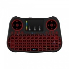 MT08 2.4GHz Mini Wireless Keyboard with 7-Color Backlit - Black