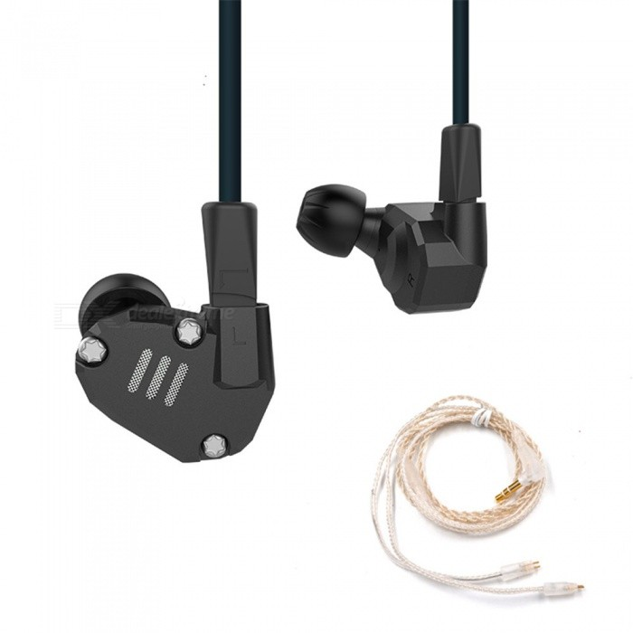 KZ ZS6 Hi-Fi Stereo In-Ear Wired Hybrid Earphone - Black (Without Mic)