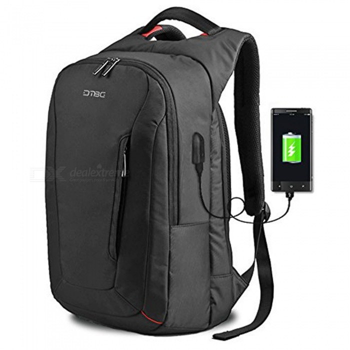 DTBG D8205W 15.6 Laptop Storage Backpack with USB 2.0 Port - BlackBags and Pouches<br>Form  ColorBlackModelD8205WQuantity1 pieceShade Of ColorBlackMaterialNylonCompatible Size15.6 inchTypeBackpacks,Tote BagsPacking List1 x Backpack<br>