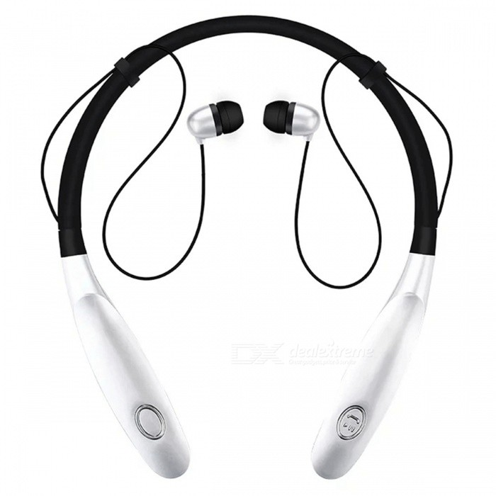 New HBS900s Sports Bluetooth Neck Headset Headphones - GoldenHeadphones<br>Form  ColorBlack + SilverBrandOthers,N/AMaterialABSQuantity1 DX.PCM.Model.AttributeModel.UnitConnectionBluetoothBluetooth VersionBluetooth V4.0Operating Range10mHeadphone StyleBilateralWaterproof LevelIPX3Applicable ProductsUniversalHeadphone FeaturesEnglish Voice Prompts,Phone Control,Long Time Standby,Noise-CancelingSupport Memory CardNoSupport Apt-XYesBuilt-in Battery Capacity 350 DX.PCM.Model.AttributeModel.UnitStandby Time16 DX.PCM.Model.AttributeModel.UnitTalk Time3-6 DX.PCM.Model.AttributeModel.UnitMusic Play Time5-8 DX.PCM.Model.AttributeModel.UnitPacking List1 x HBS900s Wireless Bluetooth Headset1 x Charging Cable1 x User Manual<br>