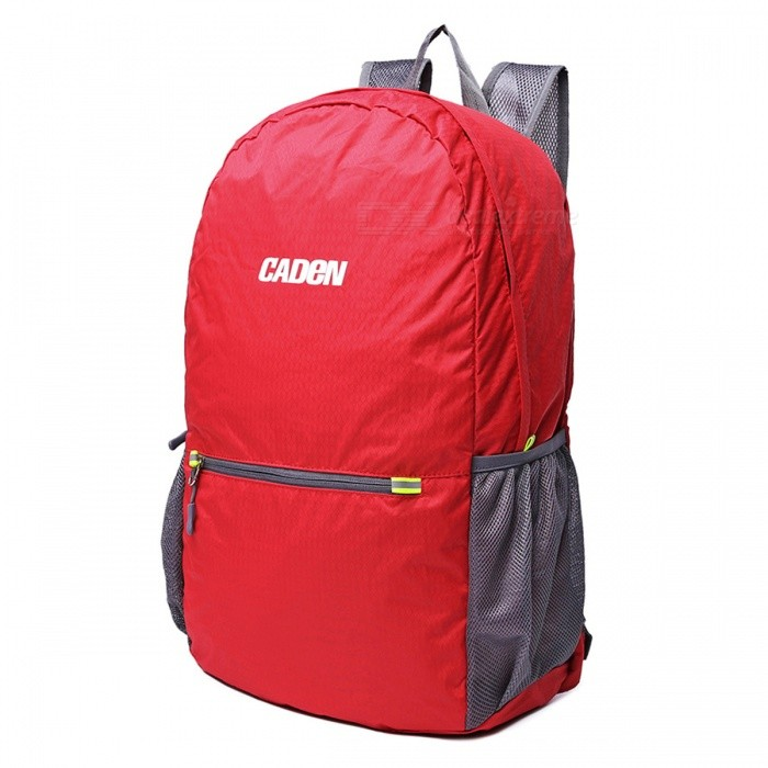 CADEN H6 Outdoor Lightweight Foldable Bag Backpack - RedForm  ColorRedBrandOthers,Others,CADENModelH6Quantity1 DX.PCM.Model.AttributeModel.UnitMaterialNylonTypeHiking &amp; CampingGear Capacity20 DX.PCM.Model.AttributeModel.UnitCapacity Range20L~40LRaincover includedNoBest UseRunning,Climbing,Travel,CyclingTypeHiking DaypacksPacking List1 x Backpack<br>