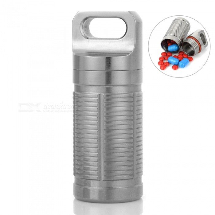 FURA Outdoor Titanium Alloy Waterproof Container - SilverShovels ?Camp Tool<br>Form  ColorSilverQuantity1 pieceMaterialTC4 Titanium AlloyBest UseFamily &amp; car camping,Mountaineering,Travel,CyclingTypeOthers,Waterproof ContainerPacking List1 x Waterproof Container1 x Pouch2 x O Rings<br>