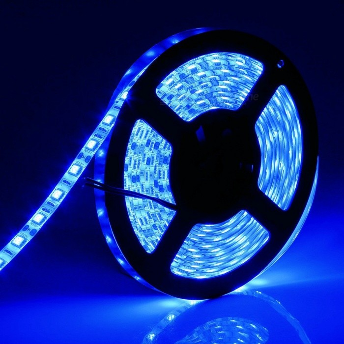 ZHAOYAO IP65 Waterproof 72W DC12V 5050 SMD 300-LED Strip Light - Blue5050 SMD Strips<br>Form  ColorBlack + Grey + Multi-ColoredColor BINBlueModel5050-300L-BlueMaterialCircuit boardQuantity1 setPower72WRated VoltageDC 12 VEmitter Type5050 SMD LEDTotal Emitters300Wavelength435-460nmTheoretical Lumens7200 lumensActual Lumens20-6000 lumensPower AdapterEU PlugPacking List1 x LED Strip Light1 x DC Adapter1 x EU Power Adapter<br>