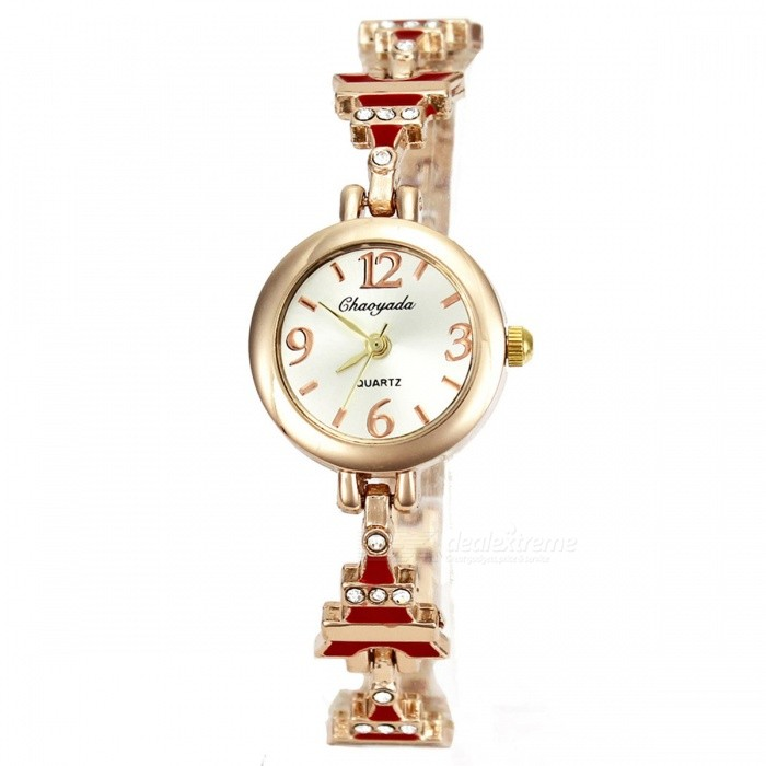Chaoyada 1139 Rhinestone Bracelet Womens Elegant Quartz Watch - RedWomens Bracelet Watches<br>Form  ColorGolden + RedModel1139Quantity1 setShade Of ColorGoldCasing MaterialElectroplating steelWristband MaterialElectroplating steelSuitable forAdultsGenderWomenStyleWrist WatchTypeFashion watchesDisplayAnalogDisplay Format12 hour formatMovementQuartzWater ResistantFor daily wear. Suitable for everyday use. Wearable while water is being splashed but not under any pressure.Dial Diameter2.3 cmDial Thickness0.8 cmBand Width0.8 cmWristband Length19 cmBattery1 x LR626 battery (included)Packing List1 x Watch<br>