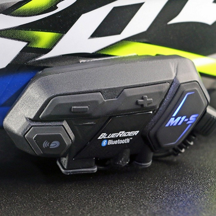 ENKLOV M1-S 6-Rider Bluetooth V4.1 Interphone for Motorcycle HelmetMotorcycle Interphone<br>Form  ColorBlackModelM1-SQuantity1 DX.PCM.Model.AttributeModel.UnitMaterialABSBluetooth VersionOthers,Bluetooth V4.1Transmit Distance500 DX.PCM.Model.AttributeModel.UnitIntercom Effective Distance500 DX.PCM.Model.AttributeModel.UnitBuilt-in Battery Capacity 600 DX.PCM.Model.AttributeModel.UnitWaterproof FunctionYesInterface1 x mini USB,1 x micro USB,Others,1 x 2.5mmPacking List1 x M1-S Interphone2 x Big velcros1 x Rectangle velcro1 x 2.5mm to 3.5mm Audio cable1 x Speaker1 x Soft micriphone1 x Micriphone1 x USB cable1 x EVA rebber3 x 3m Dual locks<br>