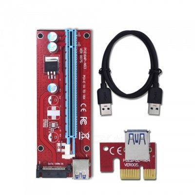 BLCR PCI-E 1X to 16X Riser Card Extender PCI Express Adapter