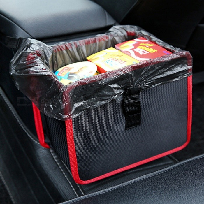 Car Storage Box 6.5L Large Capacity Portable Back Seat Organizer - RedOther Interior<br>Form  ColorRedModelN/AQuantity1 pieceMaterialClothPacking List1 x Storage Bag<br>