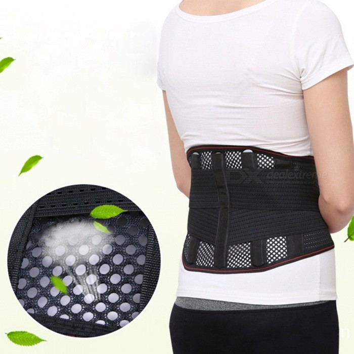 Sommar 3-i-1 Justerbar Ventilate Body Waist Wrap Support Protector