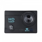 Buy 2 inch LCD 12MP 1080P Wi-Fi Action Sports Camera 16GB Memory - Black