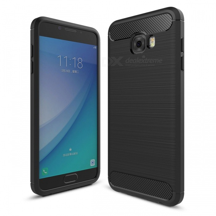 Dayspirit Wire Drawing Carbon Fiber TPU Case for Samsung Galaxy C5 ProTPU Cases<br>Form  ColorBlackModelN/AMaterialTPUQuantity1 pieceShade Of ColorBlackCompatible ModelsSamsung Galaxy C5 ProPacking List1 x Case<br>