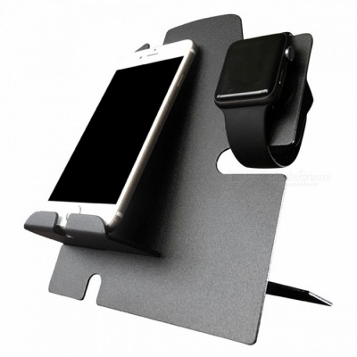 BLCR Apple Watch Stand with Phone Dock - Black