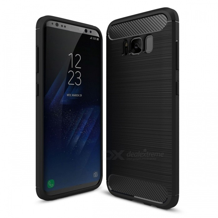Dayspirit Carbon Fiber TPU Case for Samsung Galaxy S8 Plus - BlackTPU Cases<br>Form  ColorBlackModelN/AMaterialTPUQuantity1 pieceShade Of ColorBlackCompatible ModelsSamsung Galaxy S8 PlusPacking List1 x Case<br>
