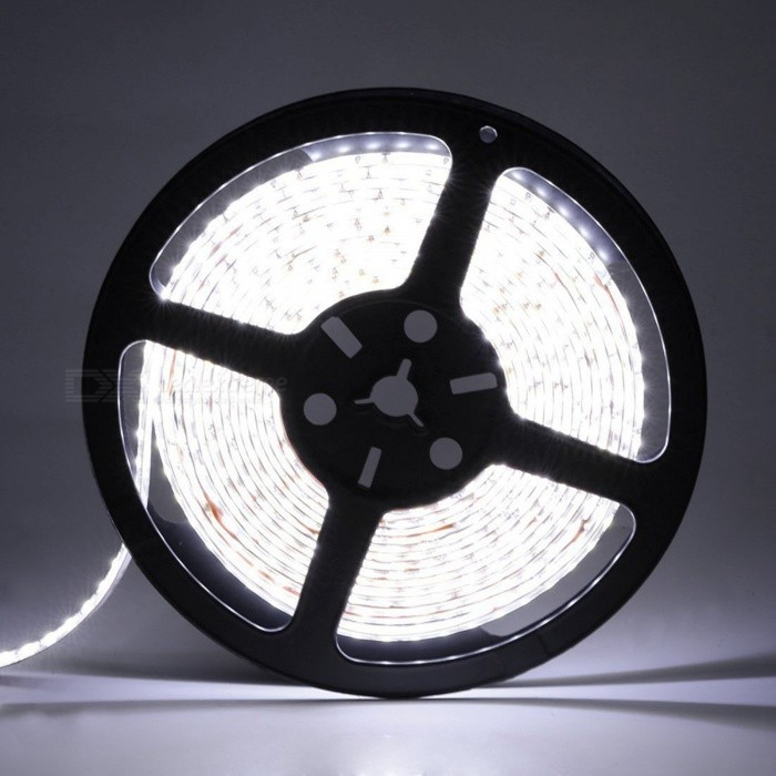 ZHAOYAO IP65 Waterproof 72W DC12V 5050 SMD 300-LED Strip Light - White5050 SMD Strips<br>Form  ColorBlack + Silver + Multi-ColoredColor BINCold WhiteModel5050-300L-WhiteMaterialCircuit boardQuantity1 DX.PCM.Model.AttributeModel.UnitPower72WRated VoltageDC 12 DX.PCM.Model.AttributeModel.UnitEmitter Type5050 SMD LEDTotal Emitters300Color Temperature5500-7000KWavelength0Theoretical Lumens7200 DX.PCM.Model.AttributeModel.UnitActual Lumens20-6000 DX.PCM.Model.AttributeModel.UnitPower AdapterUS PlugPacking List1 x LED Strip Light1 x DC Adapter1 x US Plug Power Adapter<br>