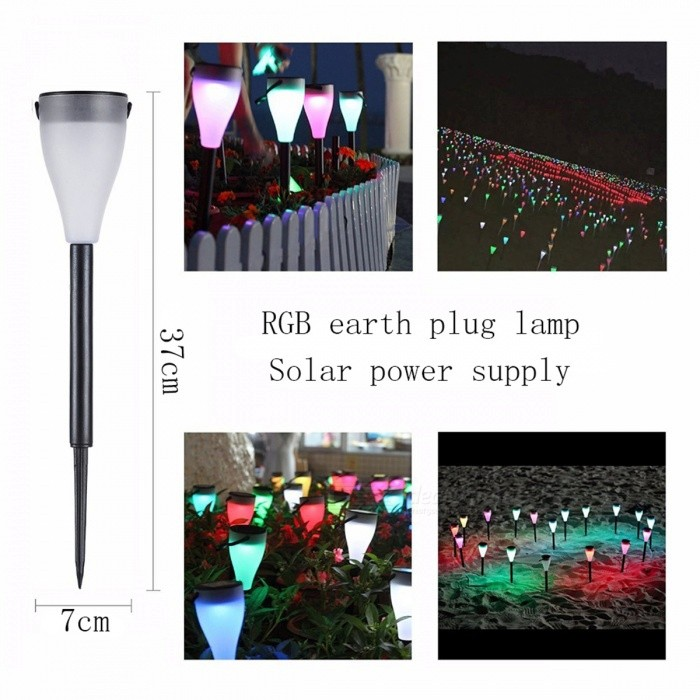 JRLED 0.5W Waterproof RGB + White Light Solar Powered Torch Lawn LampSolar Lamps<br>Form  ColorBlack + WhiteModelN/AMaterialABS + LEDQuantity1 DX.PCM.Model.AttributeModel.UnitWaterproof LevelIP65Emitter Type5050 SMD LEDPower0.5 DX.PCM.Model.AttributeModel.UnitWorking Voltage   12 DX.PCM.Model.AttributeModel.UnitWorking Current40 DX.PCM.Model.AttributeModel.UnitBattery Capacity800 DX.PCM.Model.AttributeModel.UnitLumens20 DX.PCM.Model.AttributeModel.UnitBattery Charging TimeN/AWorking Time8 DX.PCM.Model.AttributeModel.UnitCertificationCE ROHSOther FeaturesThis product adopts ABS waterproof material, waterproof to IP65800mA battery capacity, RGB color light source, solar charging, super convenient, is Home Furnishing lamp, garden, park, villa door, door decoration lighting company good choice.Packing List1 x Solar lamp<br>